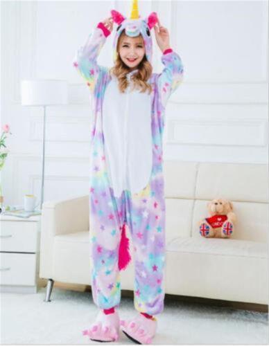 Adult//Kids Animal Pajamas Unicorn Cosplay Halloween Sleepwear Soft Jumpsuit Hot
