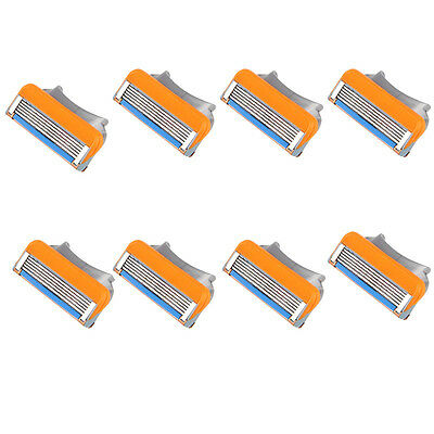 8X Man Shaving Razor Refills Cartridge Blade 5-layer for Gillette Fusion Special