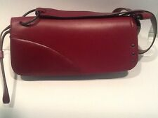 Authentic GUCCI Leather Shoulder Hand Bag Purse - Burgundy