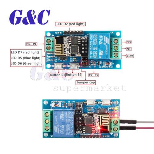 ESP8266 12V Wifi Relay IOT Module Remote Control Switch APP Smart Home