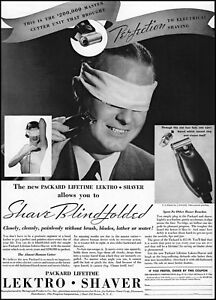 1935 Packard Lifetime Lectro Electric Shaver products man woman photo Print Ad