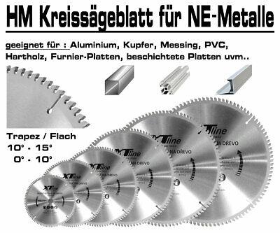 ALU Hartmetall Kreissägeblatt 200 mm x 30 x 60-Z Negativ Aluminium NE-Metall XT