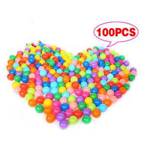 100 x multi-color Kids juego suave bolas de juguete para Ball Pit piscina Pit VN