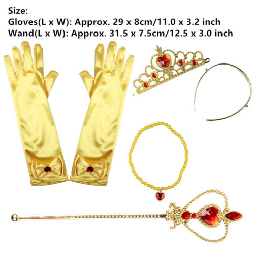 US/_3//4-Piece Princess Dress Up Accessories Gift Sets Costume Prop for Kids Girls