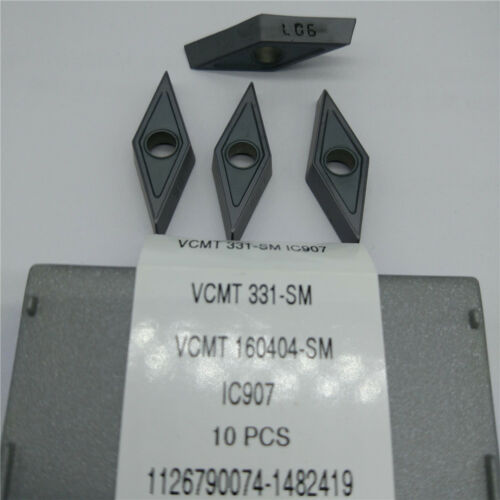 10pcs//pack  ISCAR VCMT331-SM IC907 VCMT160404-SM IC907   Carbird Inserts