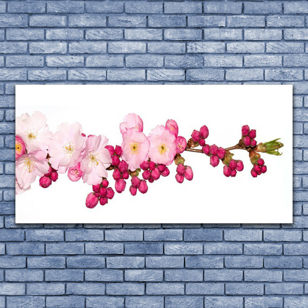 Glass print Wall art 140x70 Image Picture Flower Branch Floral