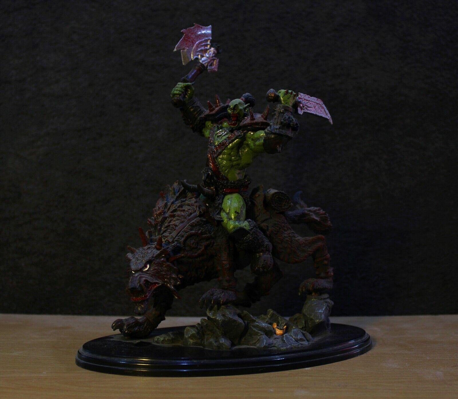 World of Warcraft Figura de colección raros  Orco Jinete de Lobo