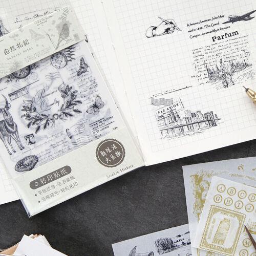 2x Vintage Bronzing Rub On Transfers Paper Scrapbooking Journaling Making Decor