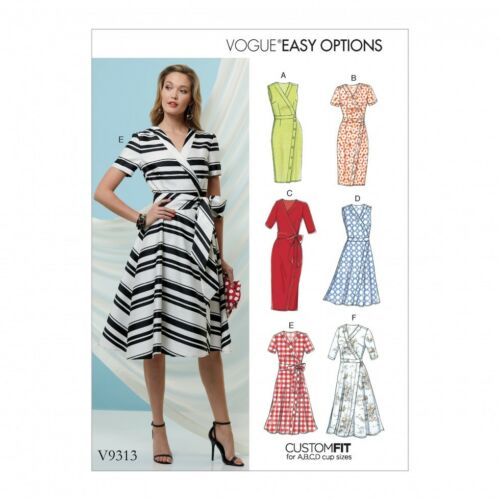 Free UK P/&P Vogue Sewing Pattern 9313 Vogue-9313-M FP