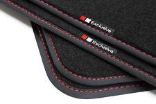 VELOURS Fußmatten schwarz vers Rand für Fiat Bravo Typ 198 ab Bj 2007-2014