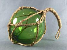 Fischerkugel grün ca 17cm im Tauwerk Netz Glaskugel Glas maritim Kugel Tischdeko