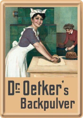 Nostalgic Art Dr Oetker Backpulver Nostalgie Backen mit Oetkers Blechpostkarte #