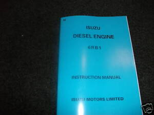 isuzu 6rb1 diesel engine instruction manual ebay rh ebay com 1995 Isuzu Trooper Isuzu Rodeo