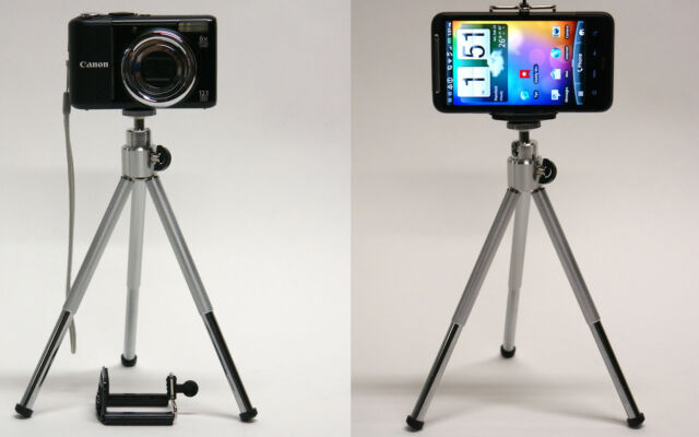 DP 2in1 cell phone mini tripod for Boost Mobile Galaxy S 5 4 3 S5 S3 Rush holder