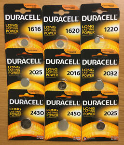 Duracell cr2032/1220/24<wbr/>50/1616/2016 3V Lithium Coin Cell Batteries ALL SIZES