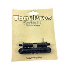 "TonePros T3BT Black Locking ""Big Hole"" T-O-M Style Guitar Bridge GB-0528-003"