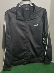 Mitre Mens XL Soccer Jacket Long Sleeve Warm Up Out Door Sport Casual Black
