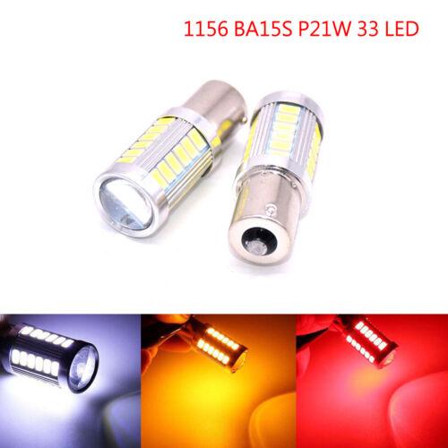 1156 P21W BA15S 33 SMD LED Car Backup Reverse Rear Light Bulbs White Red Yellow