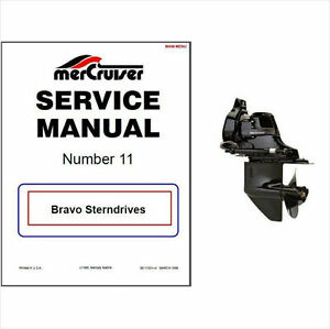 1988 1998 mercury mercruiser 11 bravo sterndrive service manual cd rh ebay com mercruiser bravo 2 outdrive manual mercruiser bravo 2 outdrive manual
