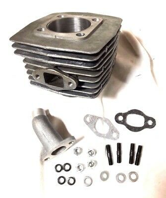 40mm cylinder STEEL BORE G5 Upgraded 80cc Silver 8mm wider intake port