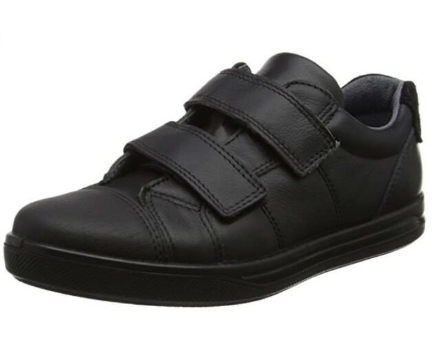 195f76fe23ca32 Ricosta Boys Black Leather School Shoes Jason Kids 8 UK Eu26 Rip ...