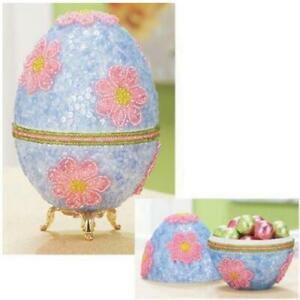 Springtime-Collector-Egg-Sequin-amp-Beads-Kit-Beaded-Easter-Egg-Kit-NEW