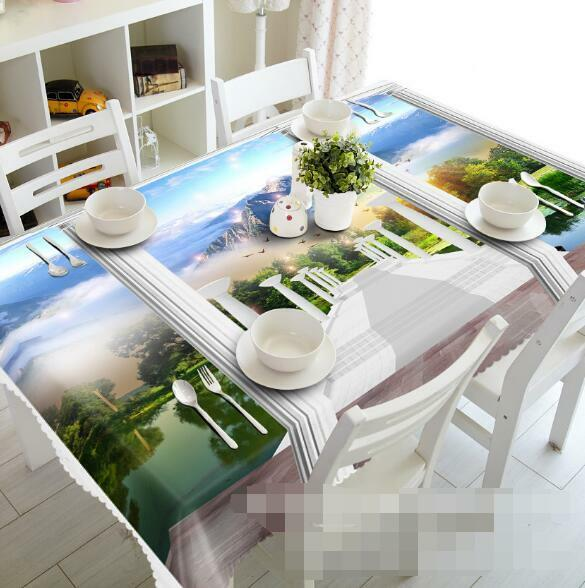 3D Scenery 44 Tablecloth Table Cover Cloth Birthday Party Event AJ WALLPAPER AU