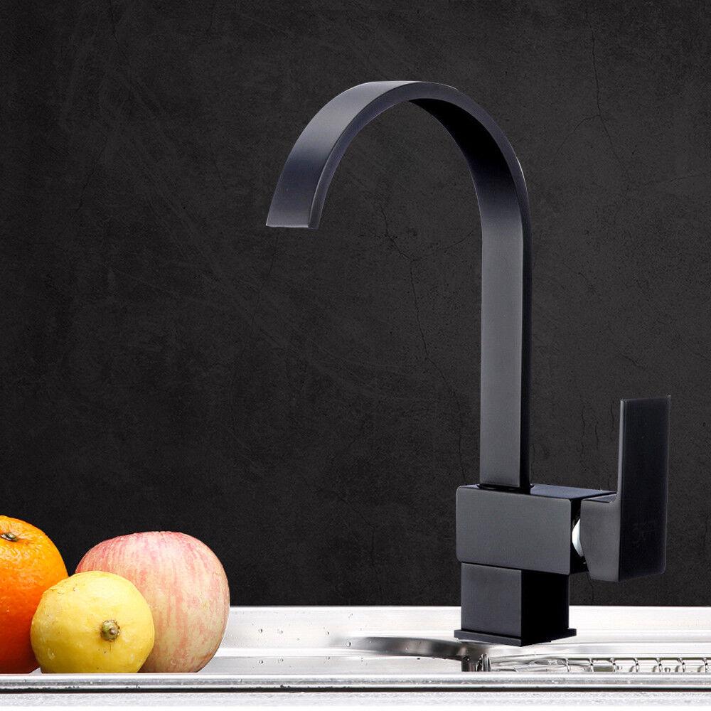 Rubinetti lavello cucina noir Miscelatore lavabo girevole Accessori lavabo IT