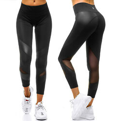 Leggings Fitness Sport Yoga Leggins Jogginghose Lang Hose Slim Fit OZONEE Damen