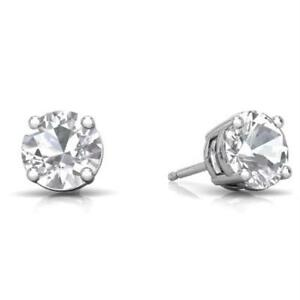 2-Ct-White-Sapphire-Round-Stud-Earrings-14Kt-White-Gold