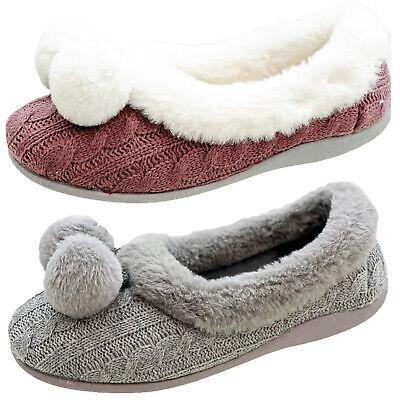 Four Seasons Womens Faux-Fur Memory Foam Granny Mum Xmas Gift Slipper Boots