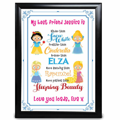 Personalised Best Friends Gifts Disney Princess Bestie Birthday Christmas BFF