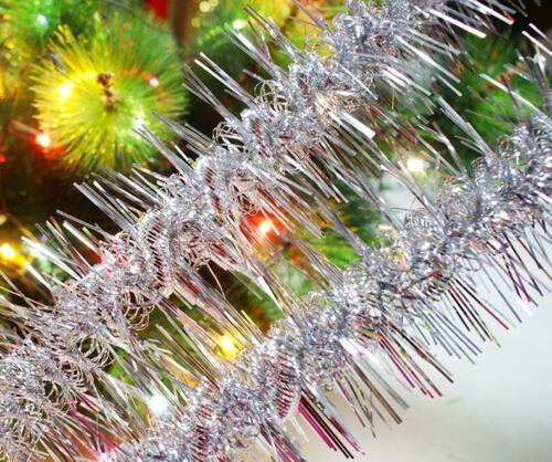 Christmas Tinsel Hanging Garland Decoration Decor For Xmas Tree Festivals Party