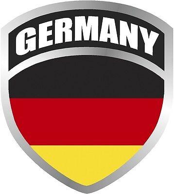 Germany German Deutsch Flag Shield Decal Badge Car
