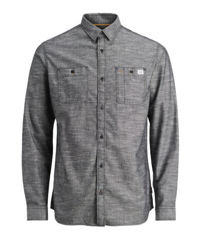 Jack /& Jones Kern Hemd Jcochicago Herren Langärmlig Baumwolle Arbeiter Überhemd