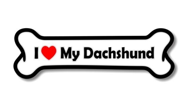A137 I Love My Dachshund dog paw  vinyl decal for car truck