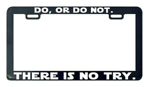WHAT WOULD YODA DO Star Wars Jedi Master  Black License Plate Frame NEW