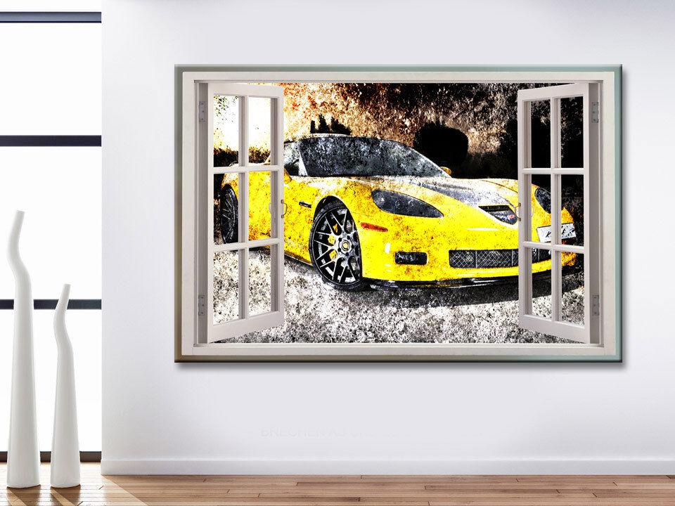 Image Fenêtre Toile Fenêtre Image Vue voiture voiture de sport Images Peintures murales Art pression d1008 660407