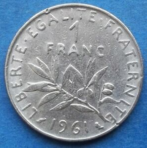 FRANCE-1-franc-1961-KM-925-1-Fifth-Republic-1959-2001-Edelweiss-Coins