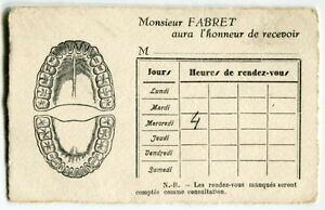 Vintage french dentist business card great graphics nice france image is loading vintage french dentist business card great graphics nice colourmoves Image collections