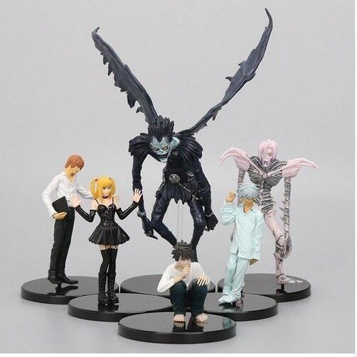 Death Note PVC Acción Figuras Jealous Amane Rem Misa Light Yagami Ryuk Model