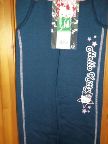 NEW Hello Kitty jogging bottoms trousers NAVY PINK TRIM Age 3 98 cm