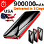 Portable-Power-Bank-900000mAh-Universal-Polymer-2USB-External-Battery-Charger thumbnail 1