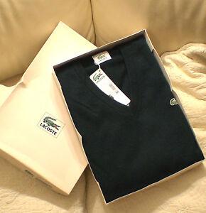 Vetement-Pull-Lacoste-100-Cachemire-T-5-neuf-jamais-porte-etiquette-amp-emballage