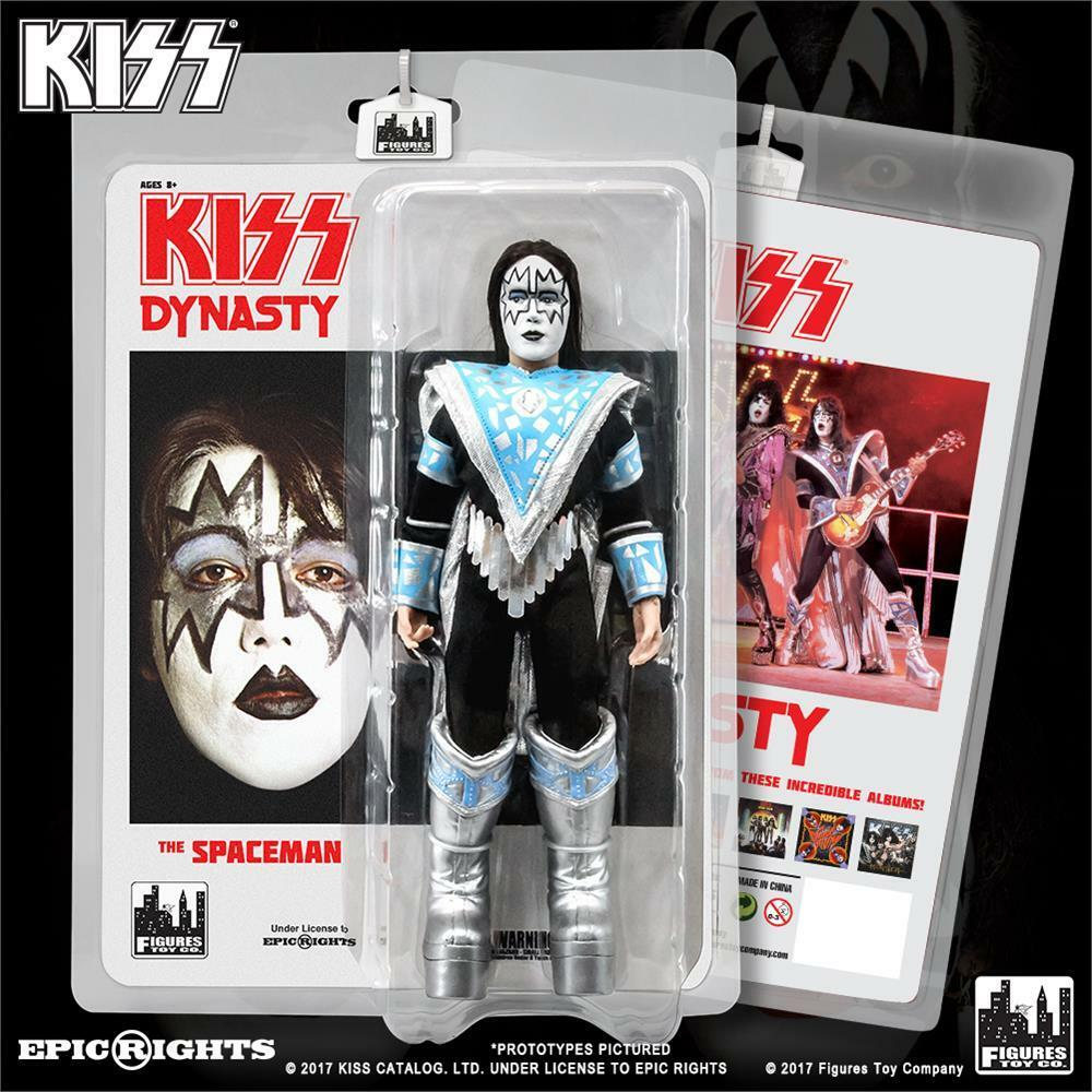 KISS 8 Inch retro Ace Frehley Action Figure Series 8 Dynasty NEW