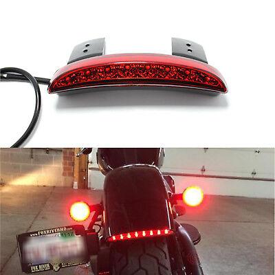 Rear Red Lens 12V Chrome Brake Tail Light Fit For Harley-Davidson Bobber Chopper