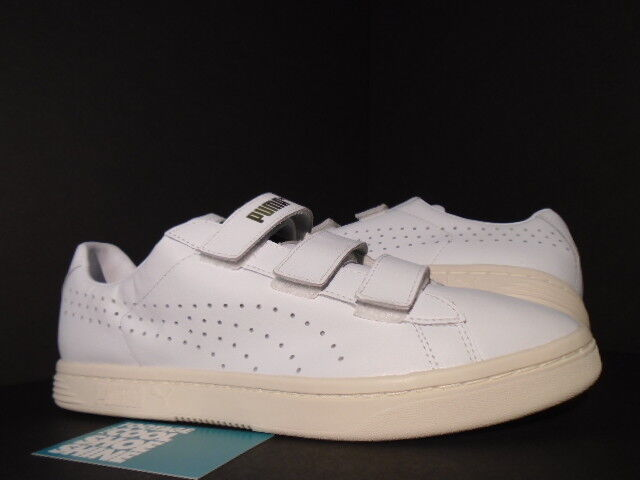 new arrival 9a118 010f2 2015 PUMA COURT STAR STRAPS GV SPECIAL WHISPER WHITE CREAM GOLD 357723-04  NEW 12