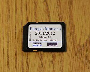 genuine peugeot citroen sat nav navigation sd card uk europe 2012 ebay. Black Bedroom Furniture Sets. Home Design Ideas