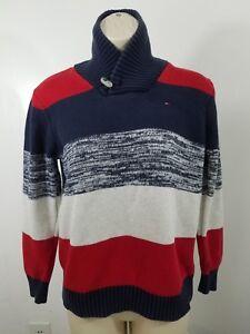 Women-039-s-Tommy-Hilfiger-Knit-Sweater-Striped-Size-Medium-1886