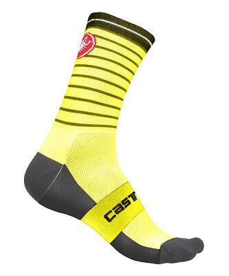 WHITE//BLACK One Pair Castelli PODIO DOPPIO 13 cm Pro Height Cycling Socks
